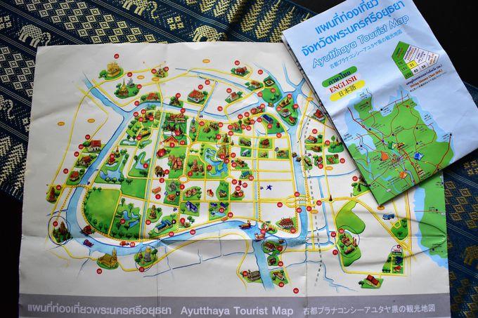 レンタサイクルやトゥクトゥクでアユタヤ遺跡を巡ることができる好立地