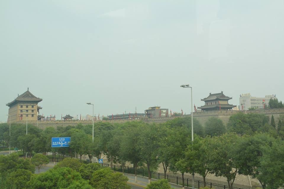 城壁で囲まれた大都市 西安