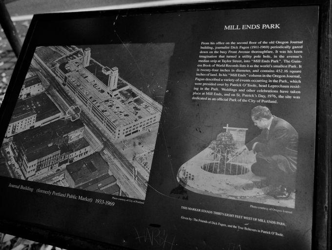 世界一小さいな公園「Mill Ends Park」