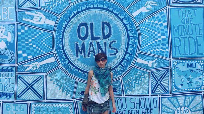 フォトジェニックなアート壁画「OLD MAN 'S」