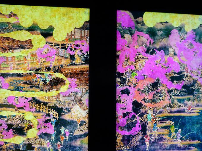 生命の移ろいを描いたデジタル日本画
