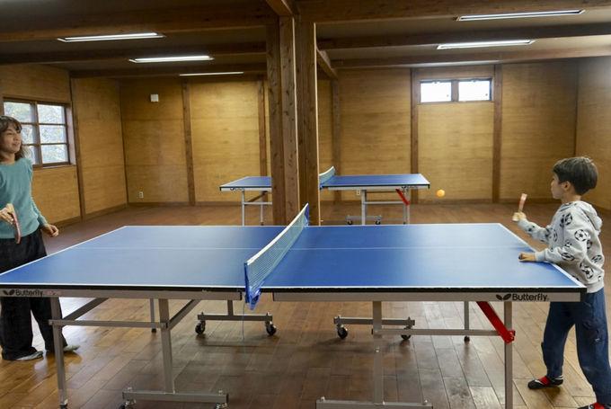 卓球場や読書室など、施設も充実