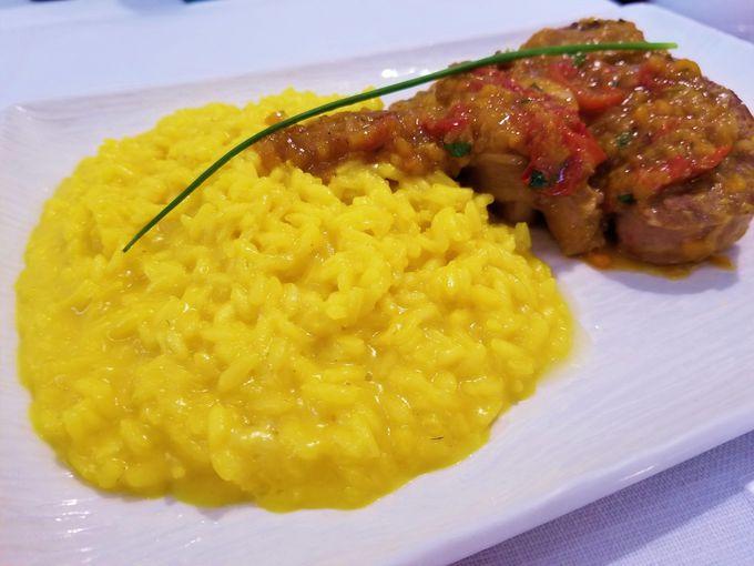 伝統料理オッソブーコとミラノ風リゾットを堪能