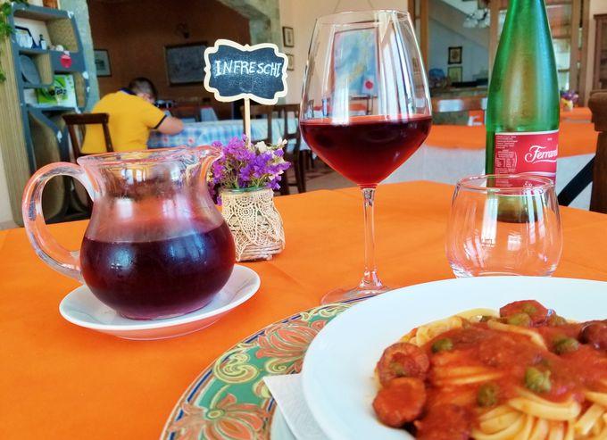 自家製ワイン、お手製パスタ、はちみつも手作り
