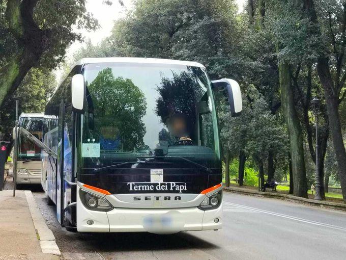 ローマからわずか1時間!ヴィテルボへ直行バス移動