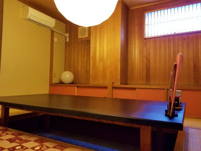 客席個室はお座敷or掘りごたつの2種