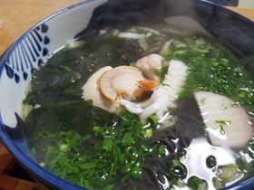 真っ黒麺!青森県大畑名物いかすみら〜めん「美奈美食堂」へ
