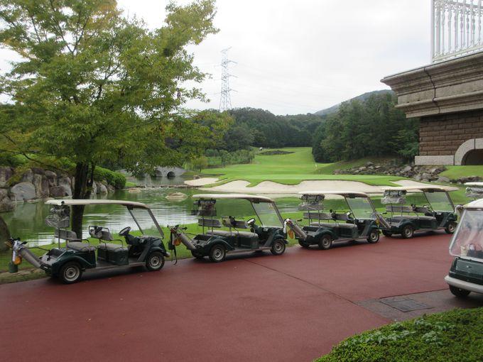 ホテルからすぐゴルフコースにアクセス