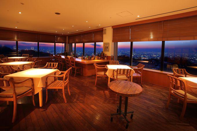 大阪平野の夜景を一望できるレストランバー「THE VIEW」