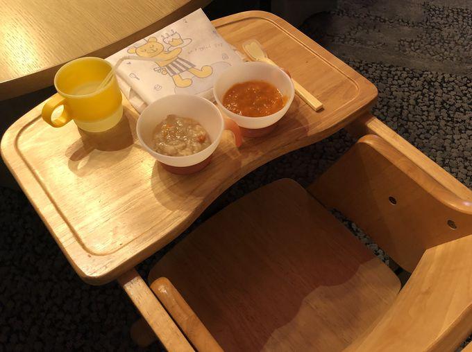 お子さまプレートと無料の離乳食