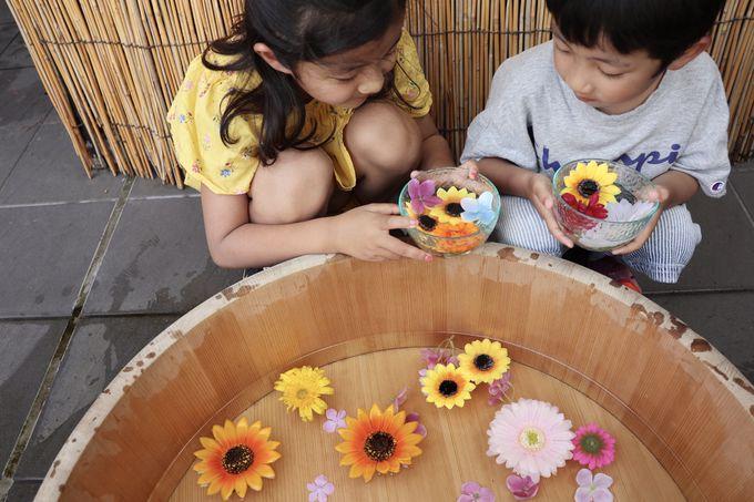 家族で楽しむ「ご当地楽」と「温泉花あそび」