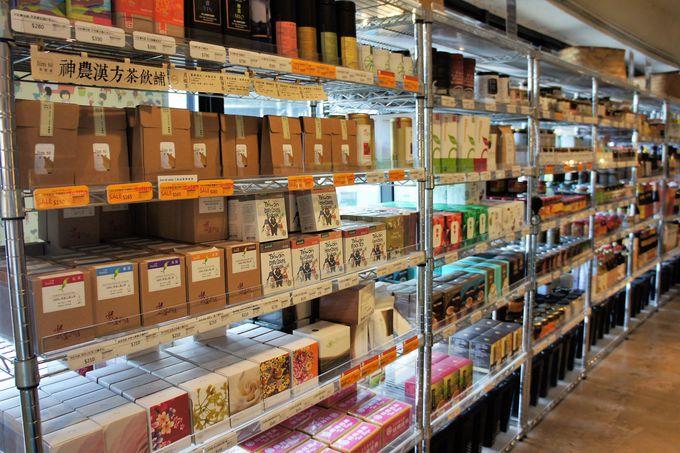 「中国茶」「台湾珈琲」「お取り寄せお菓子」コーナー