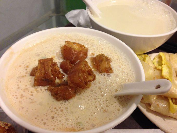 1.「阜杭豆漿」の温ったか豆乳スープ