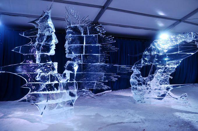 「ウィンタールード」の見どころの1つ、氷の彫刻