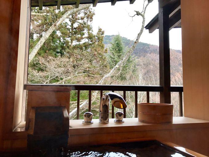 全8室、全てのお部屋で源泉かけ流しの露天風呂が楽しめる!