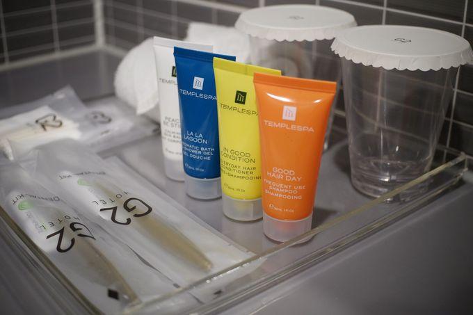 清潔感溢れるお部屋には歯ブラシも完備!