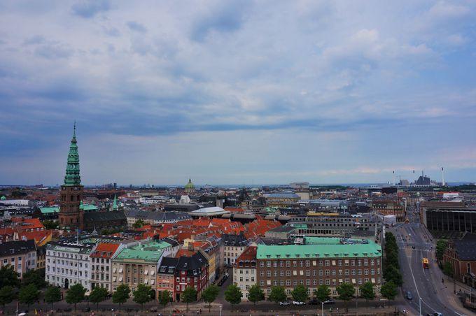 コペンハーゲン市内を一望できる「クリスチャンボー城」