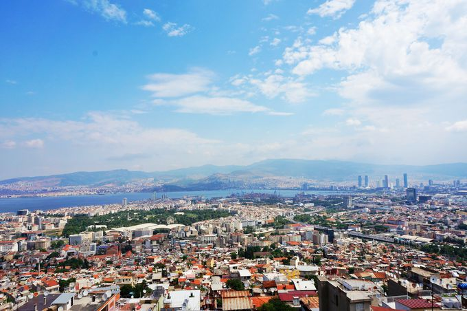 イズミール市街を一望できる「カディフェカレ城塞跡」