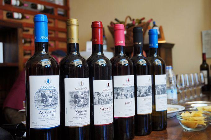 ワイナリー訪問でヒオス・ワインを堪能