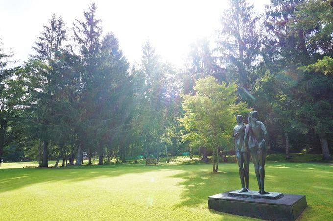 2万坪もある広大な野外美術館「彫刻公園」