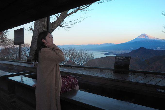 富士見の足湯で温まろう