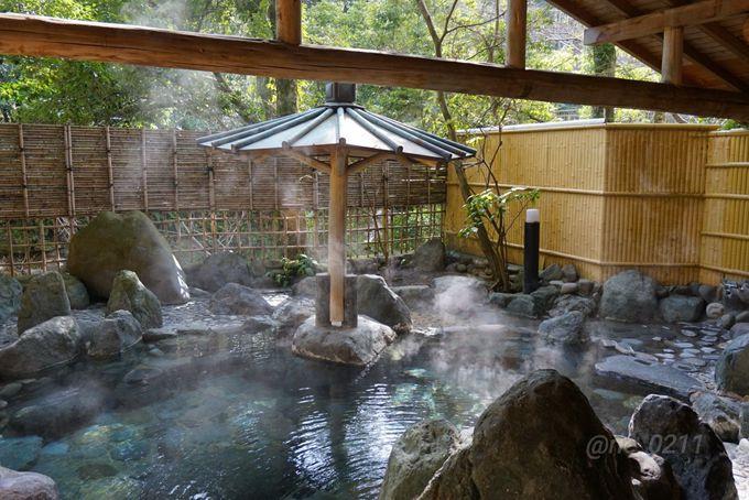 温泉はやわらかな肌当たりで源泉かけ流し