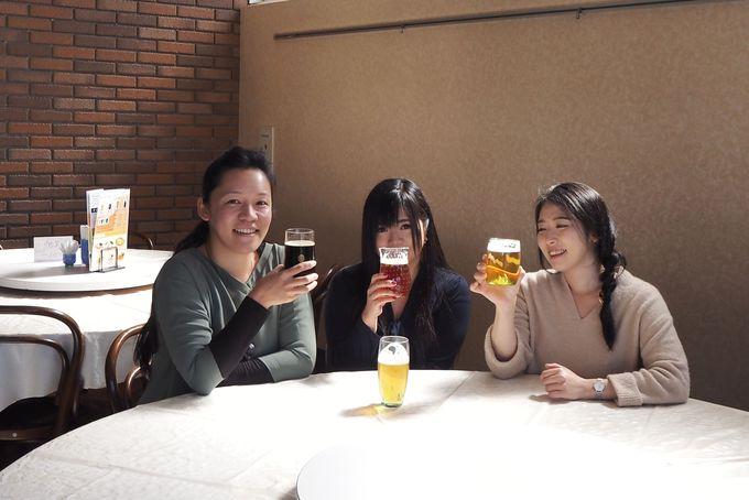 話題のおしゃれグラスで「月夜野クラフトビール」