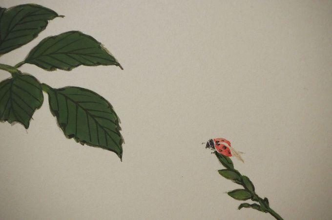 裏面の襖絵には楽しい細工も