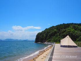 1日1組限定!岡山県「KUJIRA-JIMA」の無人島貸切キャンプ