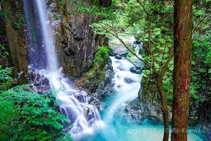 不動滝の滝つぼの美しさは圧巻!「付知峡」