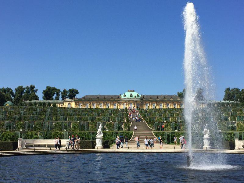 一番人気の観光スポット、サンスーシ宮殿