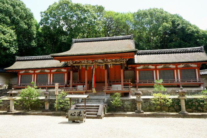 ポイント1 薬師寺への参拝は、まず休ヶ岡八幡宮でご挨拶。