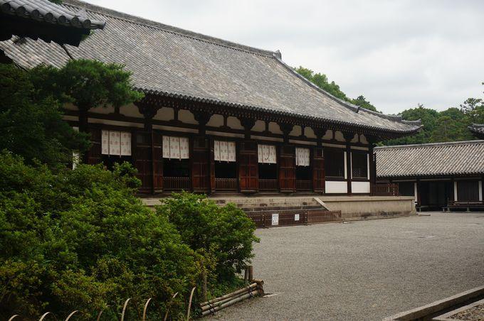 講堂は唯一現存する、平城宮にあった建造物