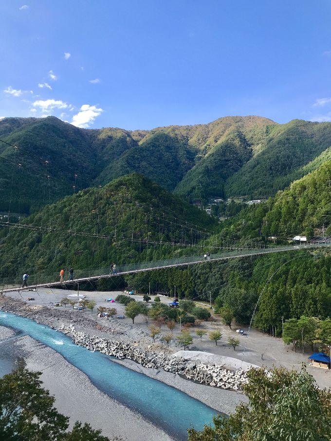 日本一長い吊り橋!谷瀬の吊り橋と絶景の山々!
