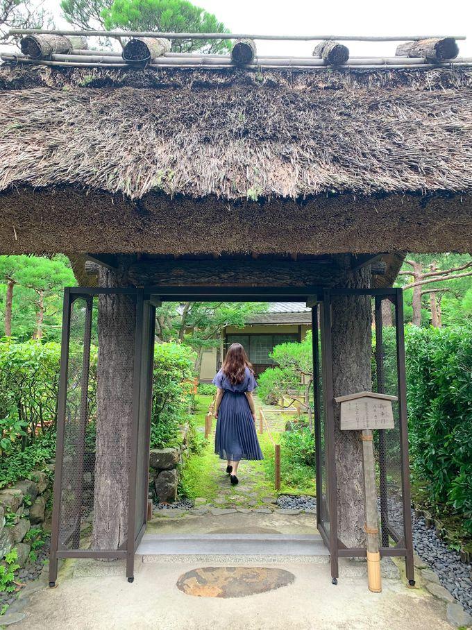 京都から移築された建物と京風庭園にうっとり!