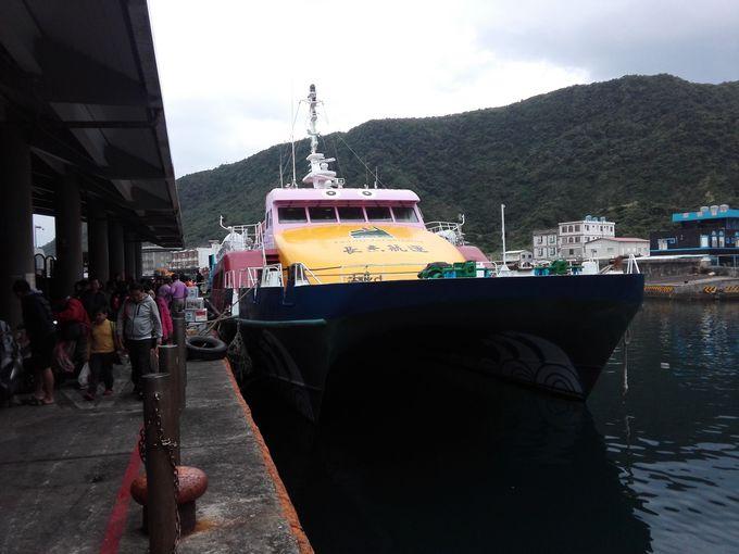約1時間の船旅で離島へゴー!