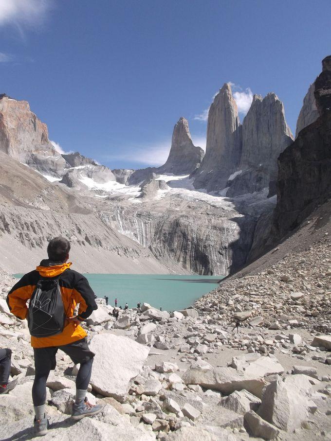 チリ・パイネ国立公園の通称「Wトレッキングコース」内から3景