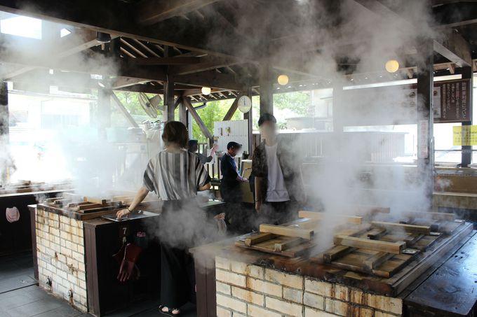 【1日目:昼食〜午後】地獄蒸し工房 鉄輪