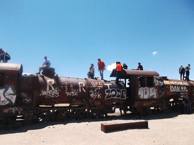 午前中:列車墓場&インカワシ島を訪問