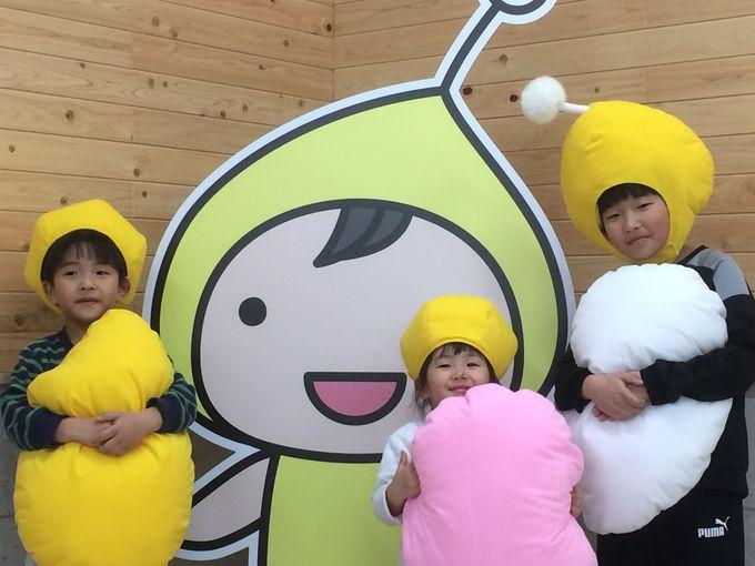 麹の妖精「こうじちゃん」は子どもたちに大人気!