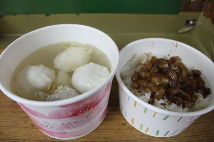 九フン定番の必食B級グルメ「魚団子スープ」
