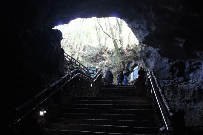 溶岩が作ったトンネルへ潜入!