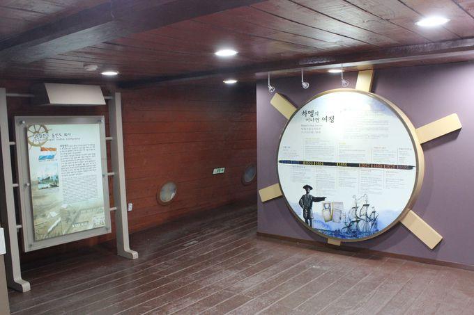 航海の様子と歴史の展示物