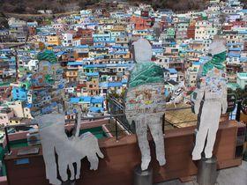 カラフルアートな街!釜山・甘川文化村の一筆書き散策モデルコース