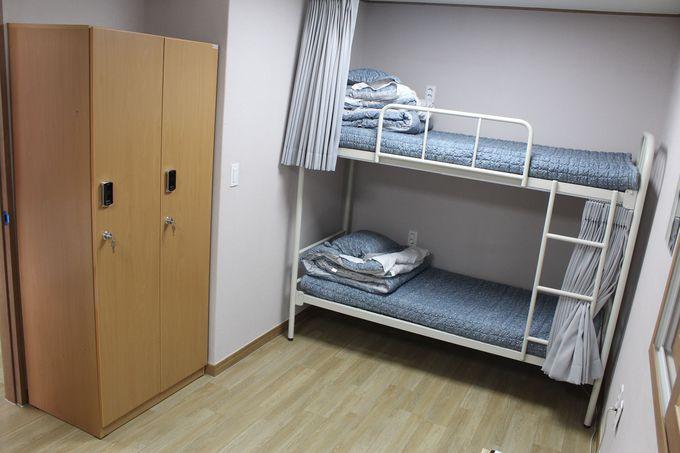 ベッド使用のドミトリー