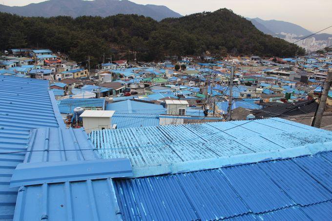 これが青い村「安昌村(アンチャンマウル)」