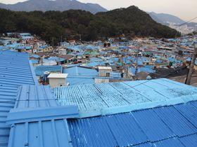 韓国のシャウエン?青い安昌(アンチャン)村は釜山初の再開発村