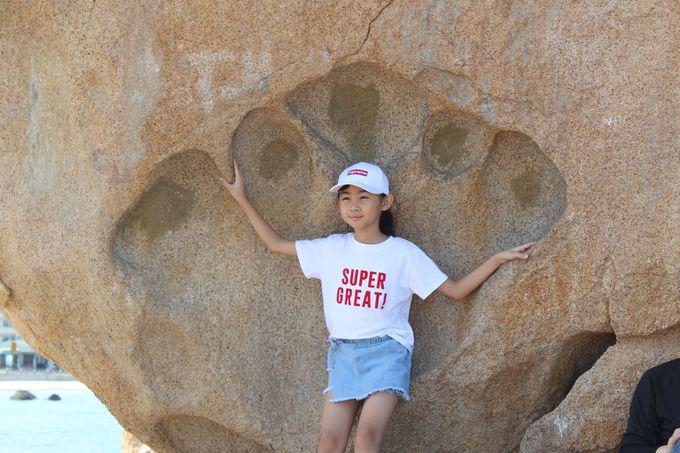 クマの手形岩は絶好の写真スポット!