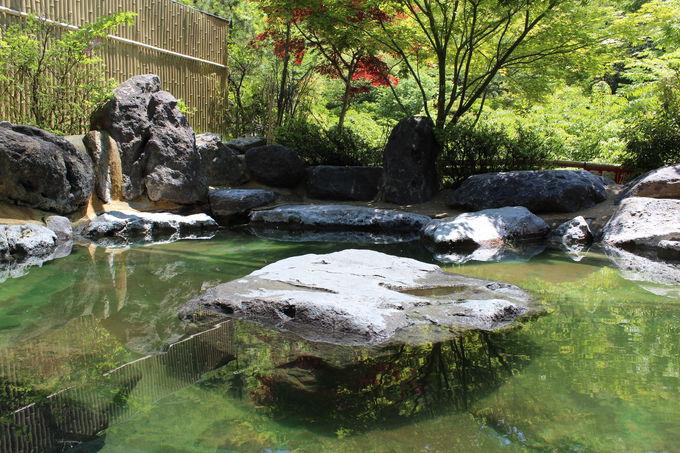 下山後は強酸性温泉で有名な塚原温泉「火口乃泉」を楽しむ