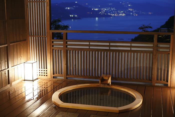 個性的なおもてなし!各部屋にある露天風呂が魅力的!